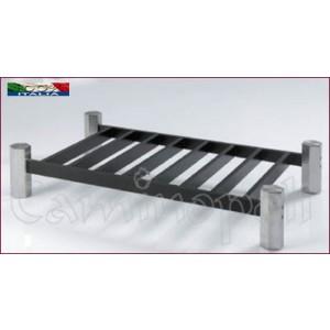 Brucialegna in acciaio e ferro B102 Braciere