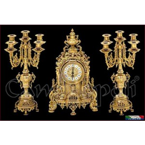 Orologio con candelieri V127