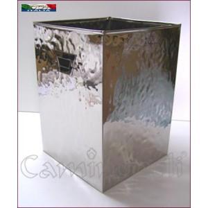Portalegna moderno in acciaio cromato L137