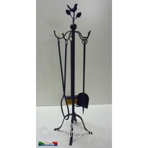 Set attrezzi in ferro battuto S238 Uccellino