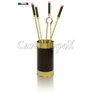 Set attrezzi in ottone S245 con secchio
