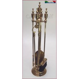 Set attrezzi 4+1 S110 in Ottone stile Impero